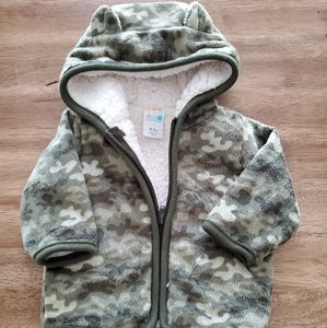 Baby fleece green camo jacket